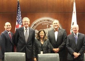 Photo: Chief Justice Tani G. Cantil-Sakauye with four presidents of California Judges Association