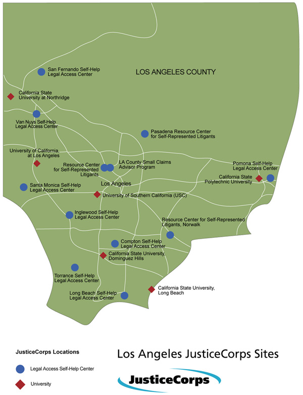 Loas Angeles JusticCorps Map