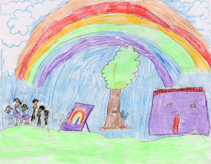 Emily from Solano County in the age 9-12 category for the Children, Youth and Elders Art Contest