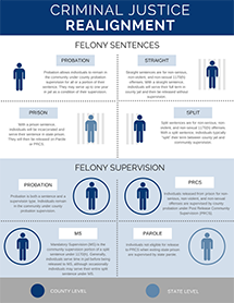 Felony sentences and supervision types after Criminal Justice Realignment