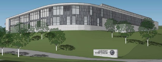 Architect's rendering: New Lakeport Courthouse