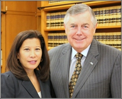 Chief Justice Cantil-Sakauye with ABA President Bill Robinson