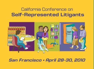 2010 Self Represented Litigants Conference Logo